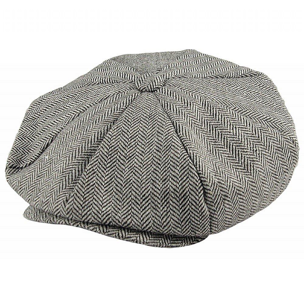 03bfd267 Gubbkeps / Flat cap - Jaxon Hats Herringbone Big Apple Cap (grå)